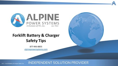 Forklift Battery & Charger Safety Tips