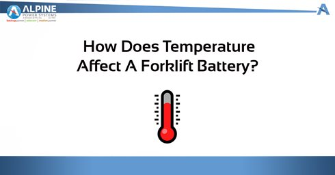 How Does Temperature Affect a Forklift Battery?