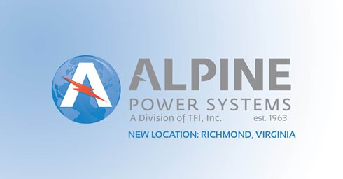 Alpine Power Systems Announces New Virginia Office & Warehouse Location